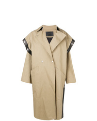 Givenchy Square Shoulder Oversized Trench Coat