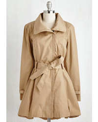 Steve Madden Taylor Fashion Class A Wrap Coat In Camel