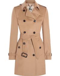 The kensington mid wool and cashmere blend felt trench coat camel medium 683794