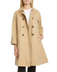 Max Mara Water Repellent Cotton Trench Coat With