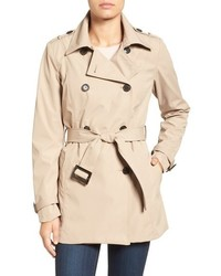 Larry Levine Water Resistant Trench Coat