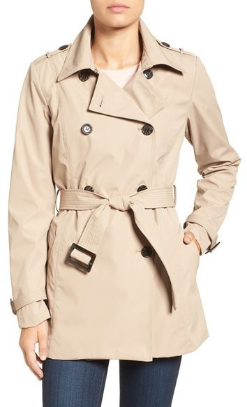 save up to 60% attractivefashion clear and distinctive $168, Larry Levine Water Resistant Trench Coat