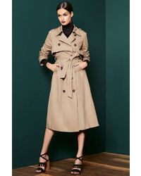 LuLu*s Weather Or Not Tan Trench Coat