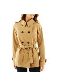 Worthington Short Belted Trench Coat
