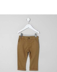 River Island Mini Boys Tan Chino Pants