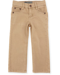 Rowen Christian Brayden Classic Twill Straight Leg Pants Washed Khaki Size 2 7