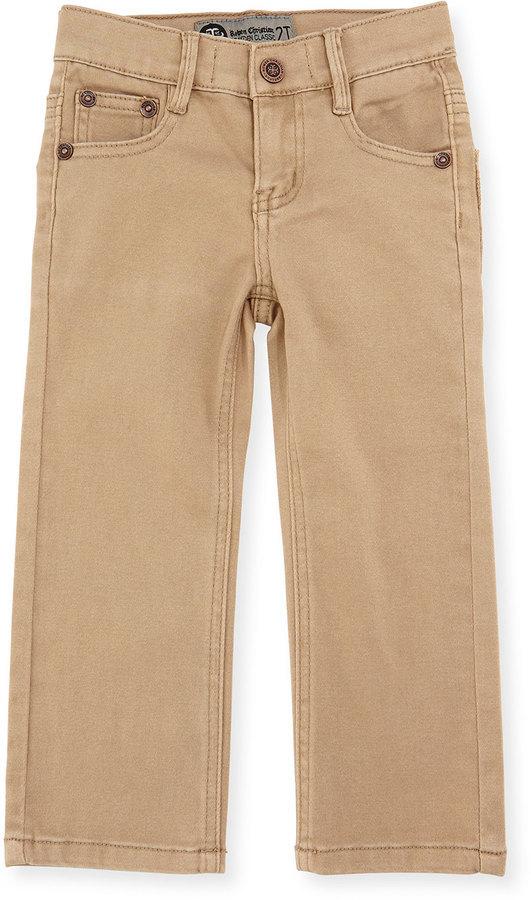 Rowen Christian Brayden Classic Twill Straight Leg Pants Washed Khaki Size 2 7