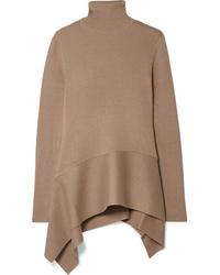 Adeam Asymmetric Ribbed Turtleneck Sweater