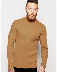 0a8fb250 Men's Tan Turtlenecks from Asos | Men's Fashion | Lookastic.com