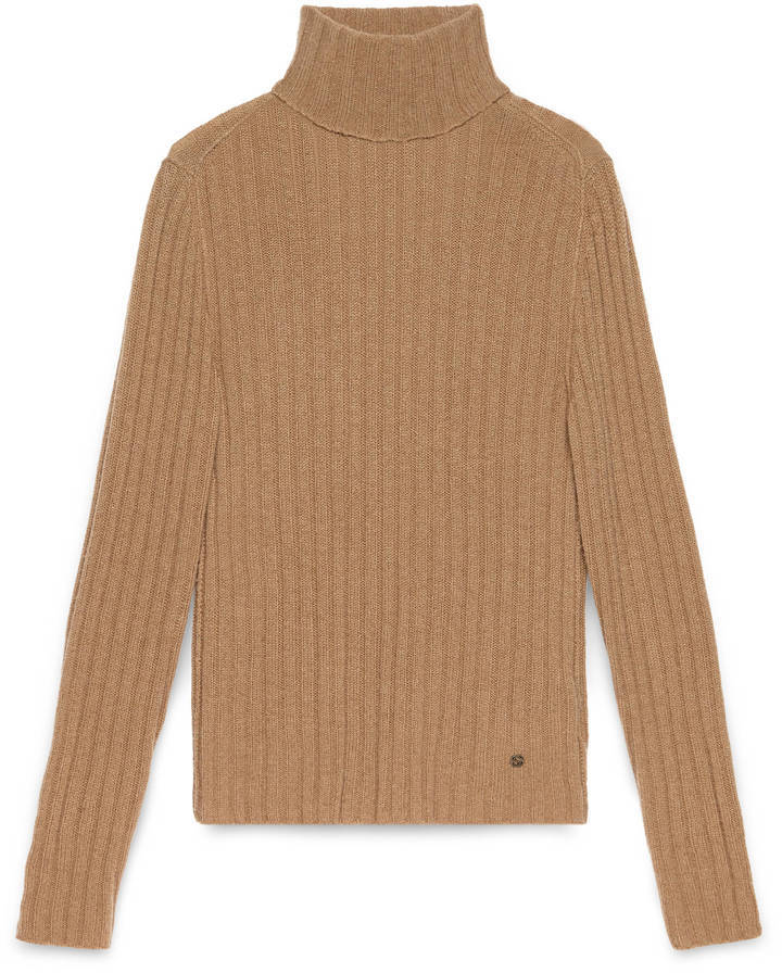Gucci Camel Turtleneck Sweater | Where to buy & how to wear