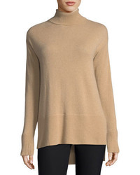Cashmere collection side slit cashmere turtleneck medium 4400711