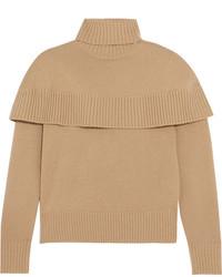 Chloé Cashmere Turtleneck Sweater Camel