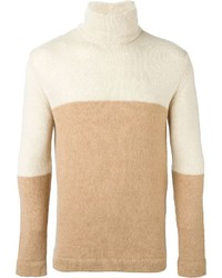 Nuur Two Tone Turtle Neck Sweater