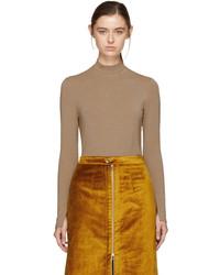 Taupe lurex jersey pullover medium 5263395