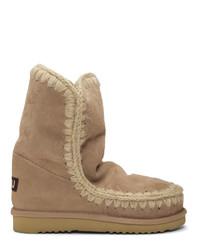 Mou Beige 24 Mid Calf Boots