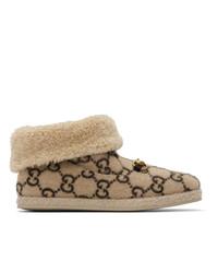 Gucci Beige Wool Fria Boots