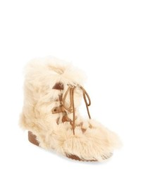 Saint Laurent Furry Genuine Shearling