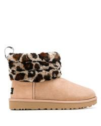 UGG Australia Leopard Roll Down Boots
