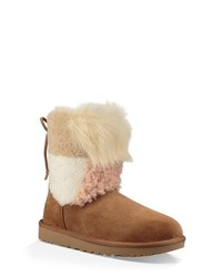UGG Patchwork Fluff Classic Bootie