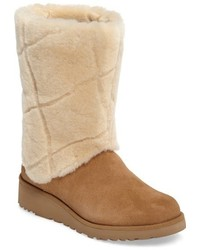 Ugg ariella luxe diamond genuine shearling boot medium 951250