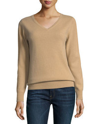Cashmere collection relaxed v neck cashmere sweater medium 4156615