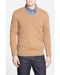 Cashmere v neck sweater medium 359661