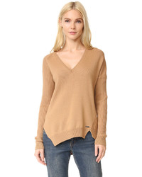 V neck ribbed sweater medium 953691
