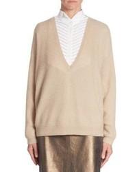Brunello Cucinelli V Neck Sequin Sweater