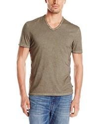 Tan V-neck T-shirt