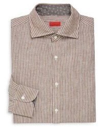 Isaia Stripe Cotton Dress Shirt