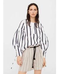 Striped linen shorts medium 5268704