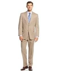 Tan Vertical Striped Suit