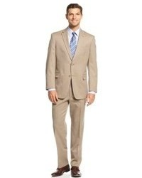 Tommy Hilfiger Tan Pindot Suit