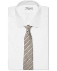 Canali 8cm Striped Slub Linen And Silk Blend Tie