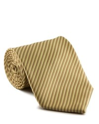 Platinum Ties Striped Tan Cookie Tie