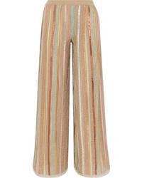 Missoni Sequined Striped Lurex Wide Leg Pants