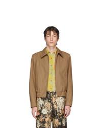 Dries Van Noten Brown And Red Wool Villiam Jacket