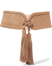 Tasseled suede waist belt sand medium 1196474