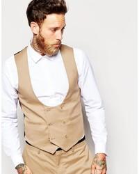 Asos Brand Vest In Half Moon Shape