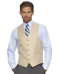 Chaps Classic Fit Tan Suit Vest