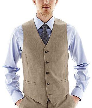 dfa814cf2cef ... JF J.Ferrar Jf J Ferrar End On End Suit Vest Slim Fit ...