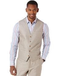 Perry Ellis Slim Fit Linen Cotton Vest