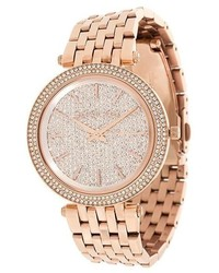 Michael Kors Michl Kors Embellished Wrist Watch