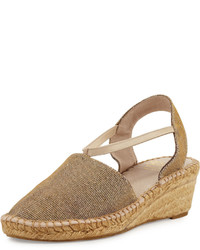 Andre Assous Andr Assous Hailey Shimmery Demi Wedge Espadrille Pump Champagne