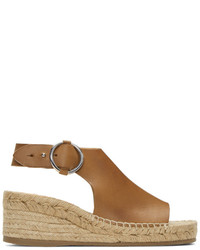 Rag & Bone Rag And Bone Tan Calla Espadrille Wedge Sandals