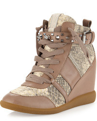 Tan Wedge Sneakers