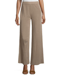 Misook Demi Palazzo Pants Light Brown