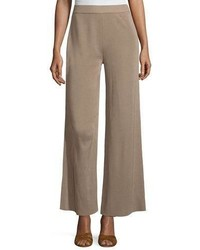 Misook Demi Palazzo Pants Light Brown Plus Size