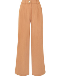 Rejina Pyo Eddie Pleated Chambray Wide Leg Pants