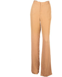 Choies Khaki Large Sized High Waist Wide Leg Pants